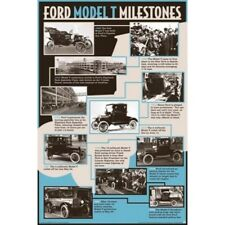 "FORD MODEL T MILESTONES POSTER - MODEL-T MONTAGE - 91 x 61 cm 36"" x 24"""