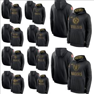 Men New Hoodie Football Team Sweatshirt 2021 Salute to Service Sideline Pullover