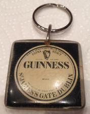 GUINNESS STOUT Keyring Vintage Irish Key Ring GUINNESS RARE Collectable Dublin