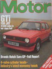Motor magazine 1/10/1983 featuring BMW road test, VW Golf GTi