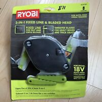 Ryobi 2 In 1 Pivoting Fixed Line & Bladed Head AC052N1 New 18V Auto Feed Trimme