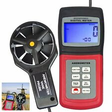 Am4836v 2-in-1 Digital Anemometer 3 Range Air Flow Thermometer Wind Speed Meter