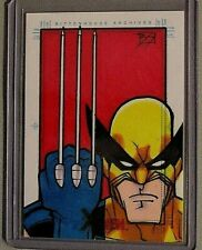 Marvel-X Men-Archives-Wolverine-Art-Comic-Book-Drawing-Sketch Card