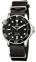 DIVER 1000 40mm AUTOMATIC DIVER BLACK DIAL - BLACK SECOND HAND- NYLON STRAP