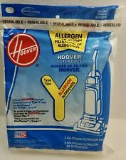 Genuine Hoover Vacuum Bags ~Type Y ~Fits Wind Tunnel &Tempo Uprights ~3 Bags