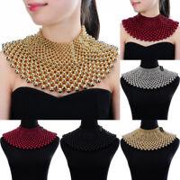 Fashion Jewelry Chain CCB Resin Beads Charm Choker Chunky Statement Bib Necklace