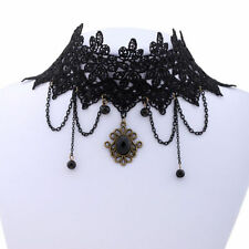 WOMENS CHOKER NECKLACE GOTHIC VICTORIAN BURLESQUE LACE STEAMPUNK HALLOWEEN UK