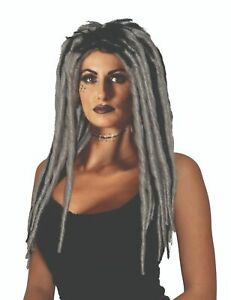 Voodoo Dreadlock Gray and Black Gothic Wig