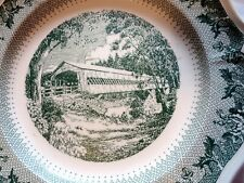 """Wedgwood Dartmouth College Queens Shape """"Ledyard Bridge"""" Collector Plate"""