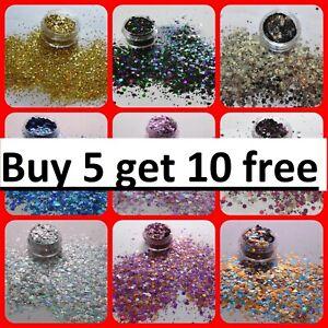 CHUNKY Festival Glitter POTS Face Eye Body Hair  Cosmetic BUY 5 GET 10 FREE