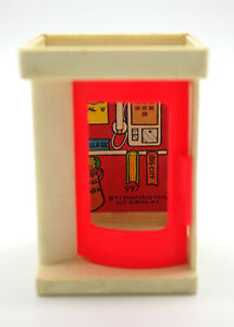 Vintage Fisher Price Little People Pay Phone Booth #997 1973