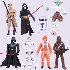 STAR WARS 9pc Action Figures The Last Jedi Yoda Rey Darth Vadar BB8 Kylo