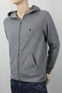 POLO Ralph Lauren Children Grey Full Zip Fleece Hoodie Sweatshirt NWT