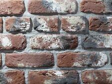 Brique feuillets Revêtement Mur Tuiles Flexibles - Blanc Brique m2 5 m