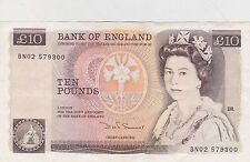 B348 Somerset £ 10 BN02 Banco de Inglaterra Nota en cerca de nuevo, sin usar