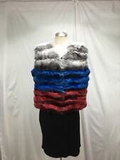 REAL SOFT FLUFFY WORTHWHILE RUSSIAN COLOR CHINCHILLA  LADY FUR VEST FREE SHIPING