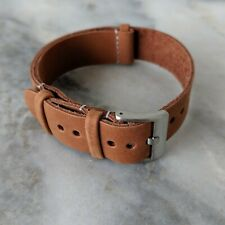 Leather NATO Watch Strap - Brown (18mm/20mm/22mm)