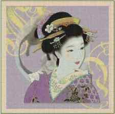 Counted Cross Stitch ORIENTAL LADY IN  PURPLE  - COMPLETE KIT - No.3-68 KIT