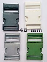 40mm Plastic Quick Side Release Buckles Fasteners For Webbing Straps Pack of 2