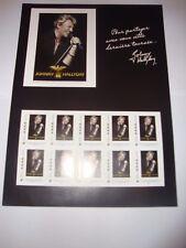 SUPERBE Collector JOHNNY HALLIDAY de 2009 Tour 66 ** LUXE NON PLIÉ - bloc timbre