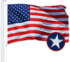 G128 American Flag 3x5 ft | Embroidered Stars Sewn Stripes Brass Grommets US USA