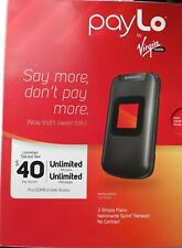 Samsung Entro SPH-M270 - Black - payLo by Virgin Mobile Cellular Phone no camera