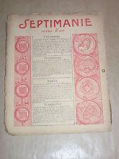 REVUE D'ART SEPTIMANIE N°50 / RARE / 1927 / NOMBREUX BOIS GRAVES