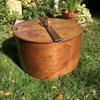 Large 19th Century Scandinavian Bentwood Tine Box Storage Container Poker Decor