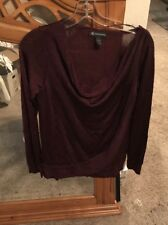INC $70 Womens New Burgundy Long Sleeve Casual Top S NWT