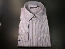 NEW Men's Dress Shirt Size 16.5 34/35 by Barry Bricken Pink Blue Striped Stripes