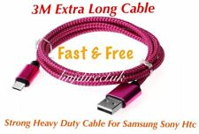 1x 3M Samsung Galaxy S8 S9, S8 S9 Plus, Note 8 9 Pixel 1 2 Usb Data Lead Cable