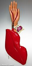 Purse Red Lips Vinyl Novelty Handbag