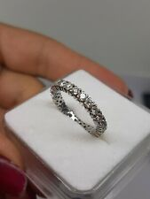 Diamonds Ring1.2ct  Eternity Solid White Gold 18k 750 Size 13 Weight 2.9g