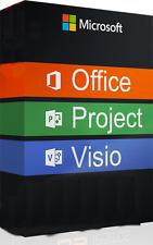 Ms Microsoft Visio Pro 2016 + Ms Project Pro 2016 + Office 2016 Digital Key 1PC