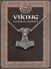 Viking Thor's Hammer Amuleto Colgante cadena del estaño en