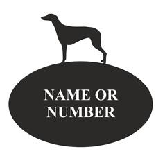 Greyhound Dog Metal Oval House Plaque