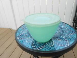 Vintage 3 Pc Tupperware Crisp It Lettuce Bowl Salad Keeper Dome Lid  w/Spike 679