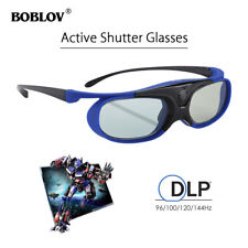 3D Active Shutter Glasses DLP-Link Home Theater Blue For BenQ Optoma Projector
