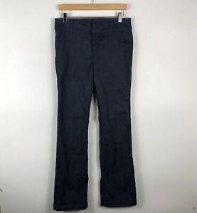 Ann Taylor Size 8 Wide Leg Trouser Jeans Blue Dark Wash