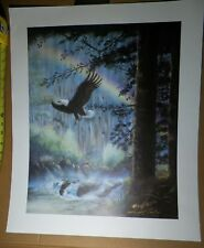 """WENDELL COOLEY Art Print """"EAGLE""""  signed  24"""" X 20"""""""