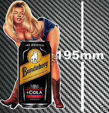 Bundaberg Rum & Cola Bundy Can Pin Up Girl Sticker Toolbox Bar Fridge Mancave