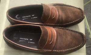 mens suede moccasin shoes UK 11