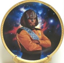 Star Trek: The Next Generation Lt. Worf Ceramic Plate 1993 NEW UNUSED COA NO BOX