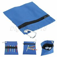 Blue Golf Ball Bag with Carabiner For Storing Balls Golf Tees Golf Equipment 1PC