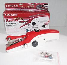 SINGER SEW QUICK Handheld Sewing & Crafting Machine w Bonus Items