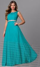 Long Formal Lace/Chiffon Party Prom Ball  Evening Bridesmaid Dress Size 6-24
