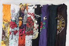 Affliction Ed Hardy Lot of 8 Juniors Graphic T-Shirts Size Large L [DC14015]