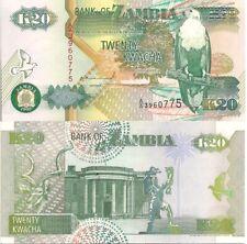 Zambia P36a/b, 50 Kwacha,  fish eagle / Kudu, State House, Liberty monument UNC