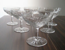 "KENT PHILLIPS Champagne Sherbets 4"", SET of SIX, PHILLIPS CUT GLASS CO, BIRKS"