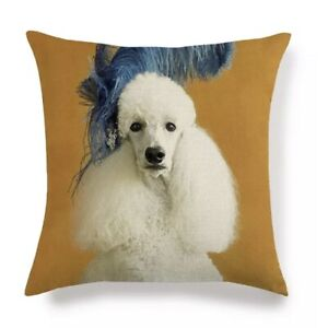 POODLE CUSHION COVER WHITE POODLE FOR YOUR HOME PILLOW STANDARD POODLE